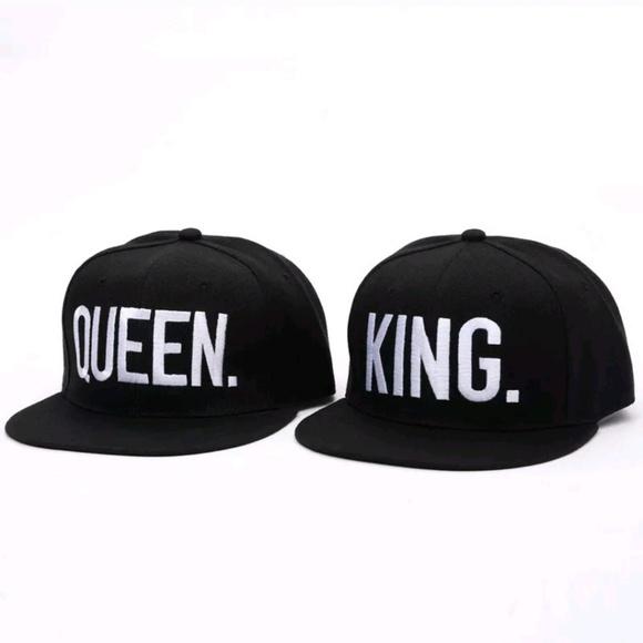 b1650e2798c Queen King Baseball Cap Hat Black White Couples